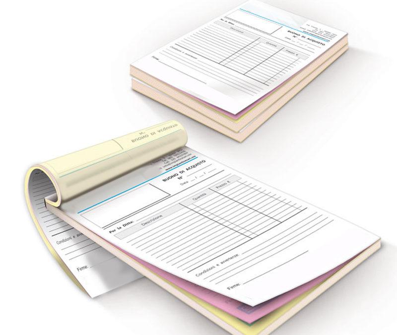 Blocchi carta chimica e blocchi copiativi